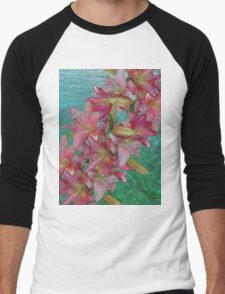 Lilies and Water Men's Baseball ¾ T-Shirt