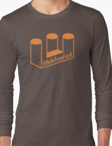 WhileTrueFork Logo Long Sleeve T-Shirt