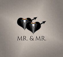Mr Tuxedo Heart Bow Tie by LiveLoudGraphic