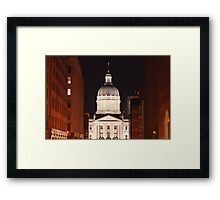 The Night Capital Framed Print