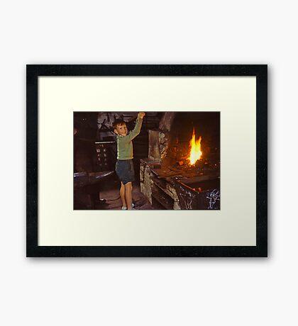 Me in Blacksmith's shop, Ardara, Co Donegal, Ireland circa 1959 Framed Print