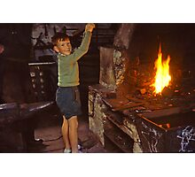 Me in Blacksmith's shop, Ardara, Co Donegal, Ireland circa 1959 Photographic Print