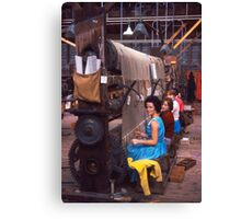 Carpet factory, Killybegs, County Donegal, Ireland circa 1959 Canvas Print