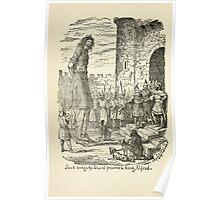 The Cruikshank Fairy Book Four Famous Stories George Cruikshank 1911 0008 Jack Brings the Giant Prisoner to King Alfred Poster