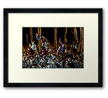 Skeletons Patrolling The Cursed Forest Framed Print