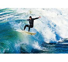 Surfing in Oceanside Photographic Print