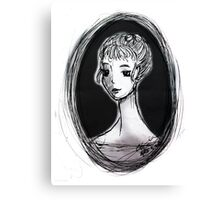 Portrait of an Imagined Lady Canvas Print