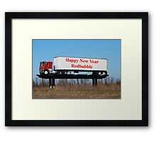 Happy New Year Redbubble Framed Print