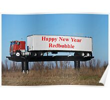 Happy New Year Redbubble Poster