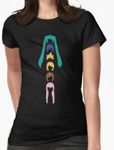 Vocaloid Heads (black) Womens Fitted T-Shirt