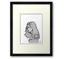Profile in Gray Framed Print