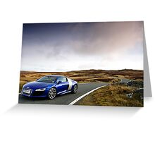 The Audi R8 V 10 .... Greeting Card