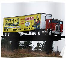 A Truck as a Billboard. Poster