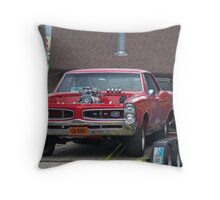 Gas Station Beauty...Love That Goat Throw Pillow