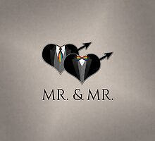 Mr Tuxedo Heart Tie and Bow Tie by LiveLoudGraphic