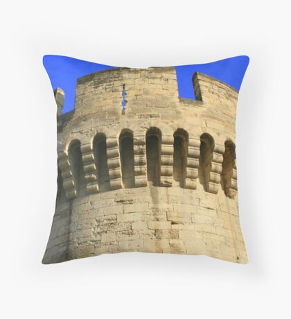 Closeup of the Wall around Old Avignon * Throw Pillow