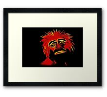 Sad Face Framed Print