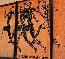Athens Marathon Street Mural by Laurel Talabere