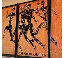 Athens Marathon Street Mural Photographic Print