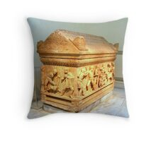 Attic Sarcophagus Throw Pillow