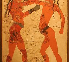 Fresco of Boxing Children by Laurel Talabere