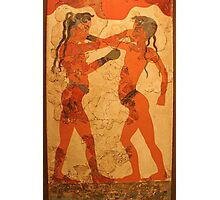 Fresco of Boxing Children Photographic Print
