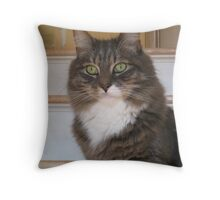 Green Eyes Look and Look Throw Pillow