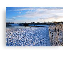 Lakeside in Winter Canvas Print