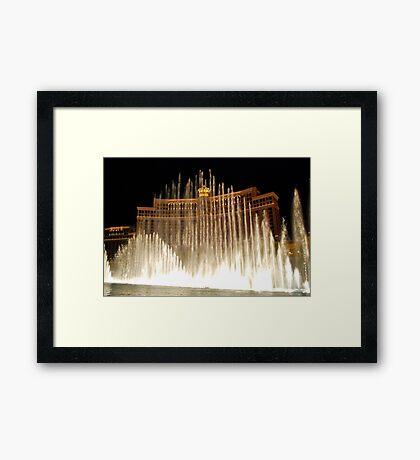 Bellagio Fountains - Las Vegas Framed Print