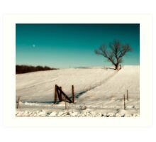 After effects from xmas snow storm. Art Print