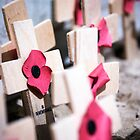 Remembrance Poppies on Crosses by Enchanted Studios