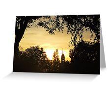 Clock Tower sunset Greeting Card