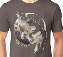 .:Wolf - We Are Not Monsters:. Unisex T-Shirt