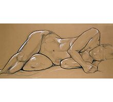 Female Nude 002 Drawing in Pastels Photographic Print