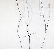 Female Nude 007 Pencil Drawing by Enchanted Studios