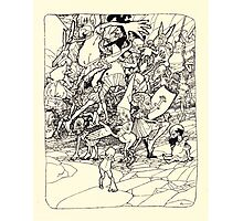 The Zankiwank & the Bletherwitch by Shafto Justin Adair Fitz Gerald art Arthur Rackham 1896 0201 Mixed Up Limbs Photographic Print