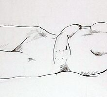 Nude 011 Unfinished Ink Sketch by Enchanted Studios