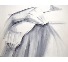 Hands Detail Acrylic Sketch Photographic Print
