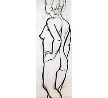 Female Nude 014 Pastel Sketch Photographic Print