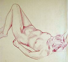 Nude 018 in Colored Pencil Photographic Print