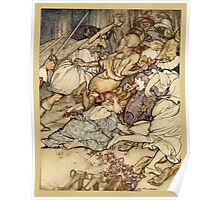 Comus Illustrated by Arthur Rackham 1921 0149 Fighting Poster