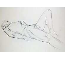 Male Nude 029 Pencil Drawing Photographic Print