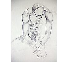 Pencil Male Nude 032 Photographic Print