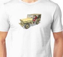 Santa Claus In Willys Jeep Unisex T-Shirt