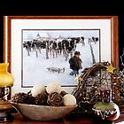 Winter Scene .... at my Ladies' Desk by Brenda Dow