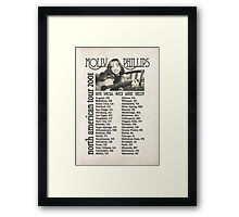 Molly Phillips Tour Poster - So Weird Framed Print