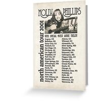 Molly Phillips Tour Poster - So Weird Greeting Card