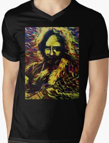 Fire Jerry - Design 1 Mens V-Neck T-Shirt