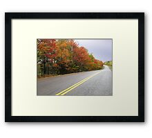 Autumn Around the Bend Framed Print