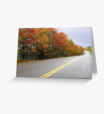 Autumn Around the Bend Greeting Card